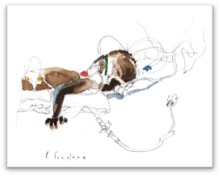 Soins post-opératoires. L'enfant est toujours intubé, connecté au respirateur. Les changements de position réguliers sont importants, ici, il dort sur le ventre.
