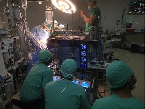 Die Kardiotechniker. Sie bedienen die Herz-Lungen-Maschine während des Herzstillstands. Eine äusserst wichtige Arbeit.