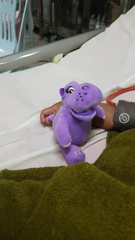 Ein weiteres Bett auf der Intensivstation.